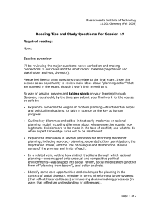 Reading Tips and Study Questions: For Session 19