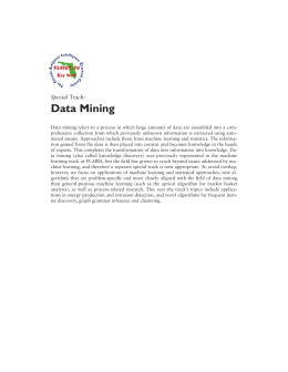 Data Mining Special Track: