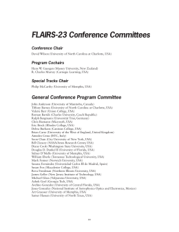 FLAIRS-23 Conference Committees Conference Chair Program Cochairs