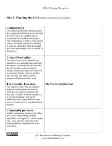 ELO Design Template  Step 1: Competencies