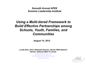 Using a Multi-tiered Framework to Build Effective Partnerships among Communities