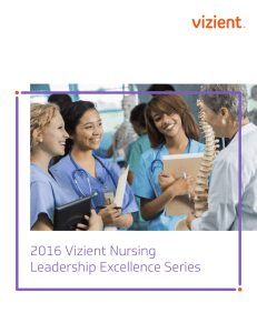 2016 Vizient Nursing Leadership Excellence Series