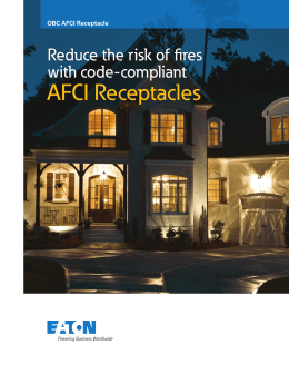 AFCI Receptacles Reduce the risk of fires with code-compliant OBC AFCI Receptacle