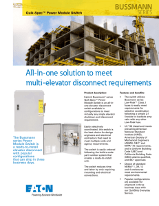 All-in-one solution to meet multi-elevator disconnect requirements