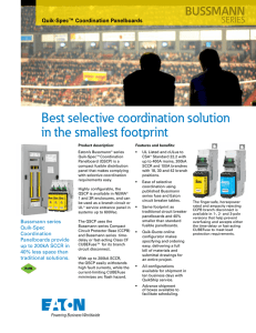 Best selective coordination solution in the smallest footprint BUSSMANN SERIES