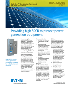 Providing high SCCR to protect power generation equipment