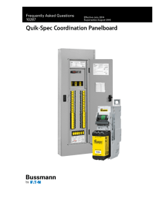 Quik-Spec Coordination Panelboard Frequently Asked Questions 10287 Effective July 2014