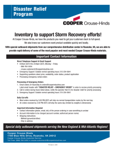 Disaster Relief Program Inventory to support Storm Recovery efforts!
