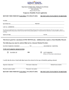 Temporary Disability Permit Application