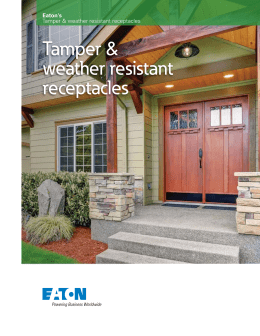 Tamper & weather resistant receptacles Eaton's