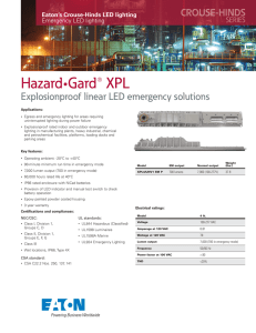 Hazard•Gard® XPL Explosionproof linear LED emergency solutions Eaton's Crouse-Hinds LED lighting