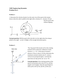 2.003 Engineering Dynamics Problem Set 4