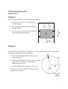 Problem 1 2.003 Engineering Dynamics Problem Set 9