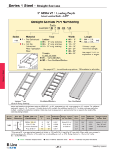"Straight Section Part Numbering 3"" NEMA VE 1 Loading Depth Prefix"