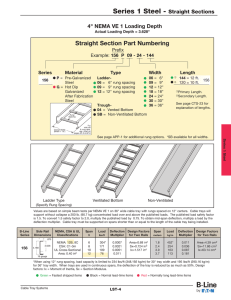 "Straight Section Part Numbering 4"" NEMA VE 1 Loading Depth Prefix"