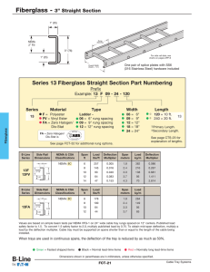 Series 13 Fiberglass Straight Section Part Numbering Prefix Series