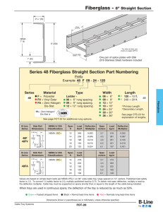 Series 48 Fiberglass Straight Section Part Numbering Prefix Series