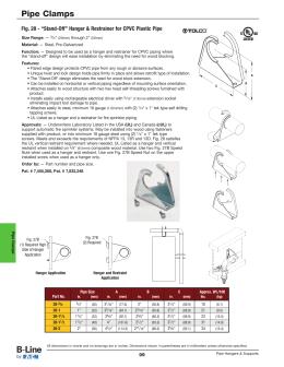 Pipe Cl&s. Fig. 28 - u201cStand-Offu201d Hanger u0026&; Restrainer for ...  sc 1 st  studylib.net & Fig. 28M - Offset Hanger u0026 Restrainer for CPVC Plastic...