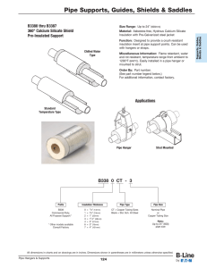 Pipe Supports, Guides, Shields & Saddles B3380 thru B3387 Pre-Insulated Support