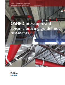 OSHPD pre-approved seismic bracing guidelines OPM-0052-13 TOLCO
