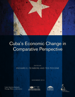 Cuba's Economic Change in Comparative Perspective Latin America Initiative