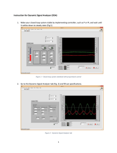 Instruction for Dynamic Signal Analyzer (DSA)