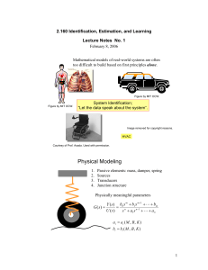 2.160 Identification, Estimation, and Learning Lecture Notes  No. 1