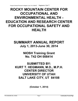 research paper on health and safety