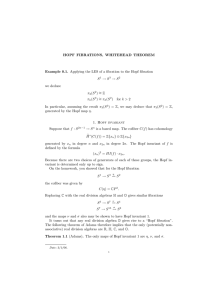 HOPF  FIBRATIONS,  WHITEHEAD  THEOREM