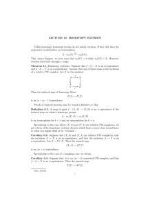 LECTURE  12:  HOMOTOPY  EXCISION
