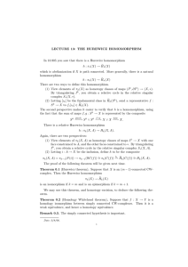 LECTURE  13:  THE  HUREWICZ  HOMOMORPHISM