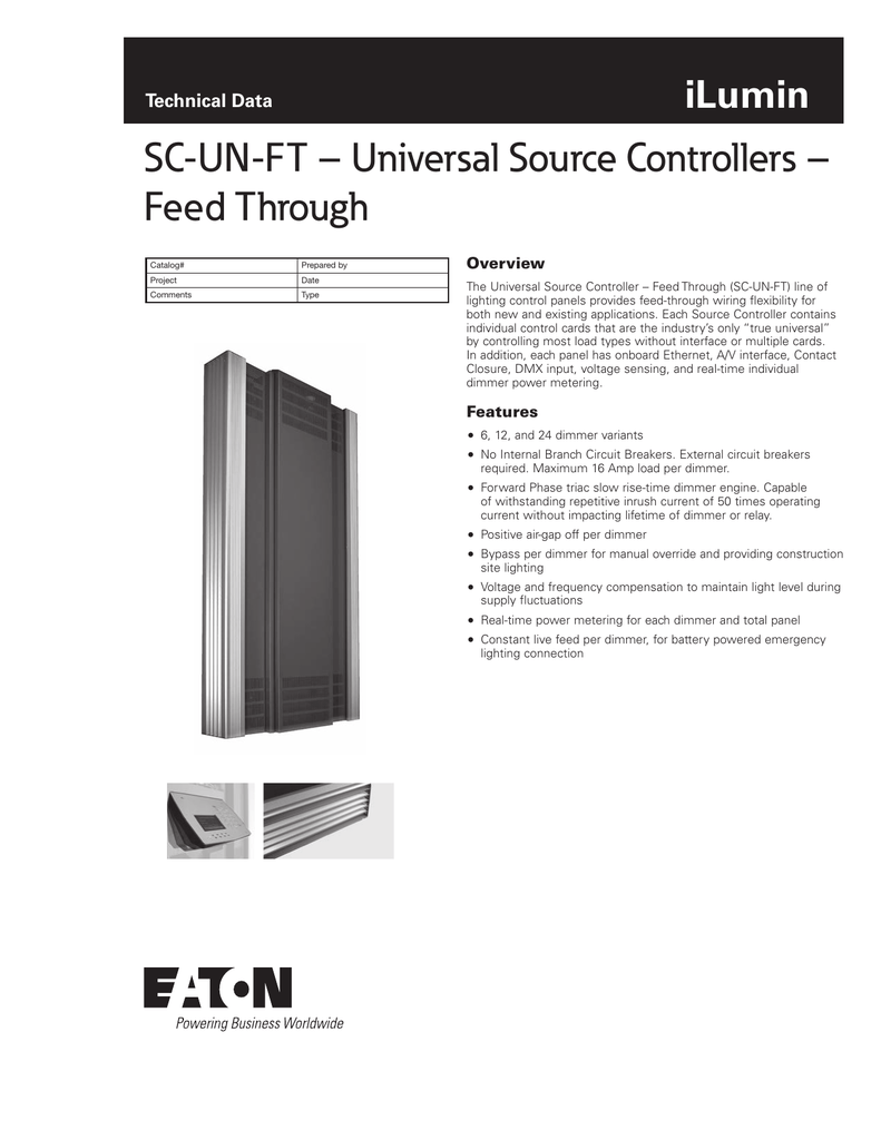 Sc Un Ft Universal Source Controllers Feed Through Ilumin Power Over Ethernet Wiring Diagram Note The Dmx Technical Data