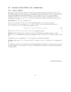 16  Lecture  21-23  (Notes:  K. ... 16.1  Linear  Algebra