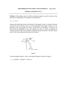 2.004 MODELING DYNAMICS AND CONTROL II Problem 1