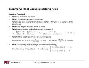 Summary: Root Locus sketching rules