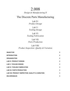 2.008 The Discrete Parts Manufacturing