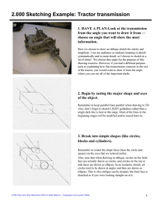 2.000 Sketching Example: Tractor transmission