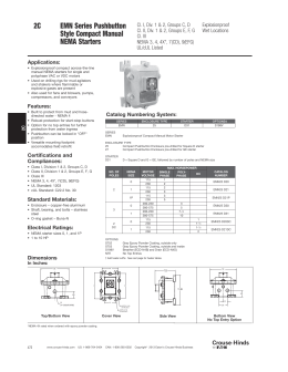 Siemenshubbell Starters And Motor Controls. 2c Emn Series Pushbutton Style Pact Manual. Wiring. J5 Furnas Switch Wiring Diagram At Scoala.co
