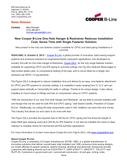 News Release  Cost, Saves Time with Single Fastener Solution