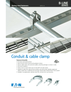Conduit & cable clamp B-LINE SERIES Spring steel fasteners