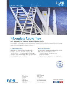 Fiberglass Cable Tray B-LINE SERIES ABS Approved for Offshore & Hazardous Locations