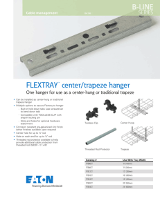 center/trapeze hanger FLEXTRAY B-LINE SERIES
