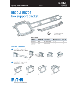 BB70 & BB70E box support bracket B-LINE SERIES