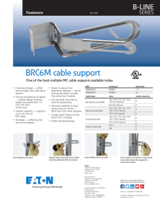 BRC6M cable support B-LINE SERIES Fasteners