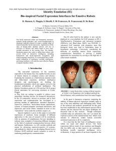 Identity Emulation (IE) Bio-inspired Facial Expression Interfaces for Emotive Robots