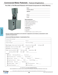 Commercial Meter Pedestals - Features & Applications