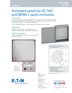 Perforated panels for JIC, RHC, and NEMA-1 panel enclosures B-LINE SERIES