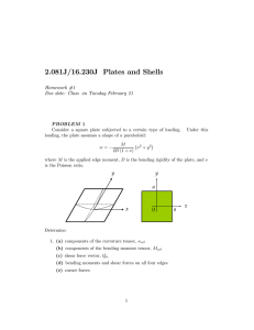 2.081J/16.230J  Plates  and  Shells Homework  #1