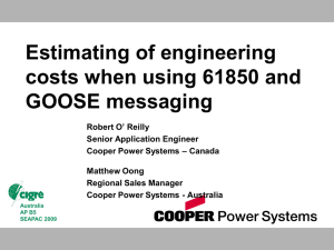 Estimating of engineering costs when using 61850 and GOOSE messaging
