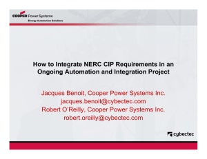 How to Integrate NERC CIP Requirements in an